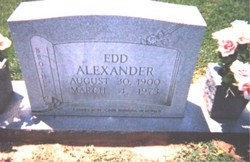 James Edward Edd Alexander