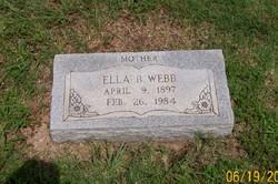 Ella Belle <i>Miller</i> Webb