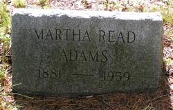 Martha <i>Read</i> Adams