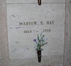 Marion E. Hay