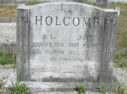 Mary Jane Janie <i>Clack</i> Holcombe