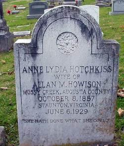 Anne Lydia <i>Hotchkiss</i> Howison