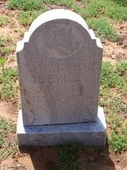 Mary Nancy <i>Burris</i> Bevill