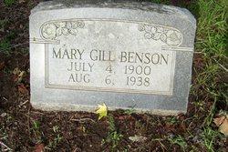 Mary <i>Gill</i> Benson