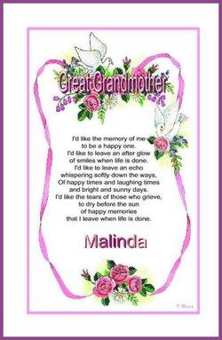 Malinda J. Lina Jane <i>Moses</i> Meadows (ors)