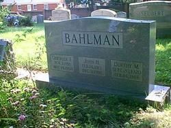 John Henry Bahlman, Sr