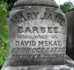 Mary Jane <i>McKay</i> Barbee
