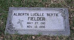 Alberta Lucille Bertie <i>Redus</i> Fielder