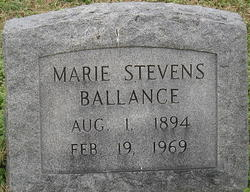 Marie <i>Stevens</i> Ballance