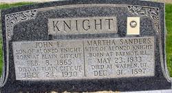 Martha Brown <i>Sanders</i> Knight