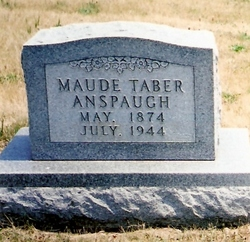 Maude <i>Taber</i> Anspaugh