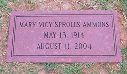 Mary Vicy <i>Sproles</i> Ammons