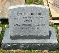 Mary Pauline Polly <i>Tillman</i> Havard