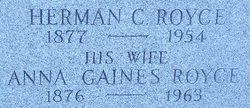 Anna <i>Gaines</i> Royce