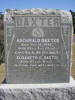 Elizabeth Evalin <i>Burns</i> Baxter