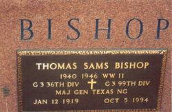 Gen Thomas Sams Bishop