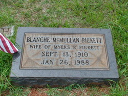 Blanche <i>McMullen</i> Pickett