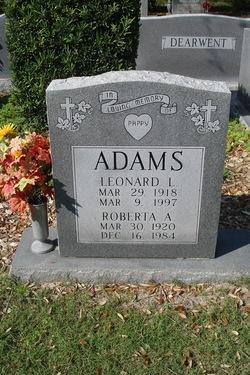 Leonard L Adams