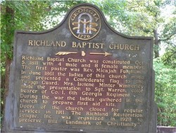 Richland Baptist Church Cemetery