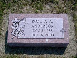 Rozeta A Anderson