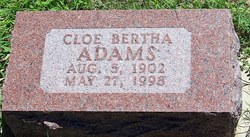 Cloe Bertha <i>Bybee</i> Adams