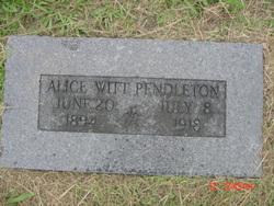 Alice <i>Witt</i> Pendleton