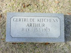 Gertrude <i>Kitchens</i> Arthur