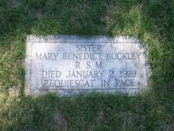 Sr Mary Benedict Buckley, RSM