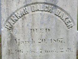 Hannah Balch Baker