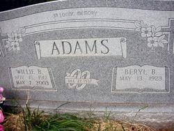 Beryl B Adams