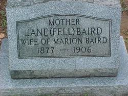 Mary Jane Mollie <i>Fell</i> Baird