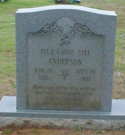 Ella Carol <i>Fell</i> Anderson