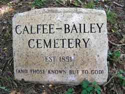 Calfee-Bailey Cemetery
