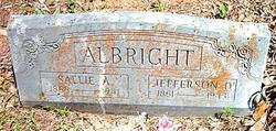 Sarah A. Sallie <i>Johnston</i> Albright