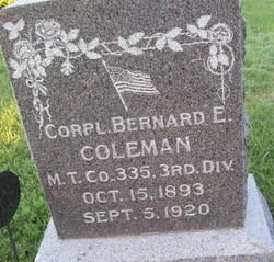 Bernard E Coleman