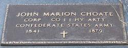 Corp John Marion Choate
