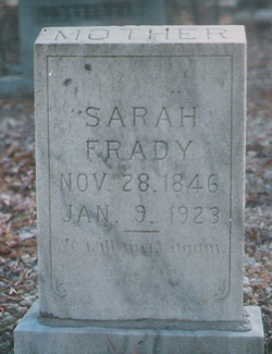 Sarah A <i>Teem</i> Frady