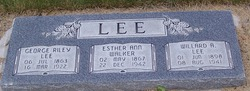 Esther Ann <i>Walker</i> Lee