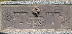 Edith May Peggy <i>Mefford</i> Hess
