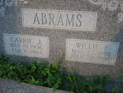 Carrie Jewell <i>Akins</i> Abrams