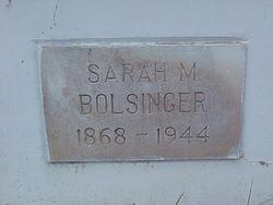 Sarah m <i>Kent</i> Bolsinger
