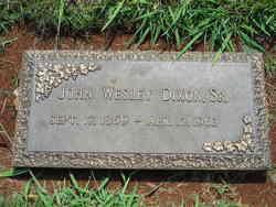John Wesley Dixon, Sr
