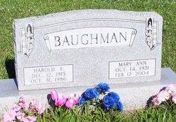 Mary Ann <i>Wilkin</i> Baughman