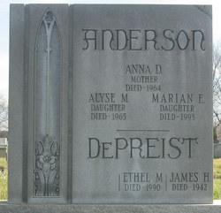 Anna D <i>Rucker</i> Anderson