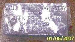 Sallie Miller <i>Maye</i> Avery