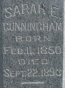 Sarah E <i>Clark</i> Cunningham