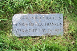 Infant Twin Daughters Franklin