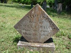 Allie W Bales