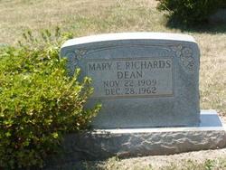 Mary E <i>Richards</i> Dean