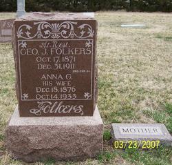 Anna G. <i>Blank</i> Folkers